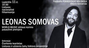 LEONAS SOMOVAS WORLD MUSIC stiliaus kūrinio pasaulinė premjera