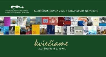 """Konkurso """"Klaipėdos knyga 2020"""" apdovanojimų renginys"""