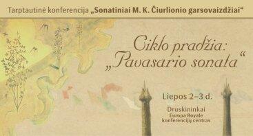Sonatiniai M. K. Čiurlionio garsovaizdžiai   Tarptautinė konferencija