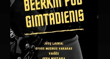 """Gyvos muzikos vakaras """"BEERKIN PUB GIMTADIENIS"""""""