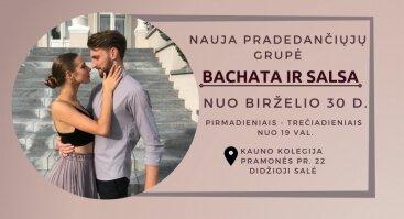 Nauja Bachata/Salsa pradedančiųjų grupė nuo birželio 30d.