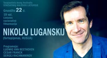 Maskvos valstybinės akademinės filharmonijos solisto, Rusijos liaudies artisto pianisto NIKOLAJAUS LUGANSKIO koncertas