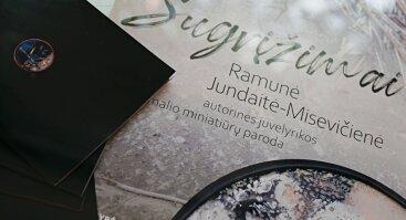 """Ramunė Jundaitė-Misevičienė """"Sugrįžimai"""". Autorinės juvelyrikos ir emalio miniatūrų paroda"""