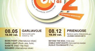 """Jaunimo muzikos festivalio """"MŪZ'ON'AS""""2 atrankinis turas- koncertas Garliavoje!"""