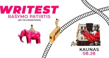 WRITEST: patirk ir rašyk Kaune