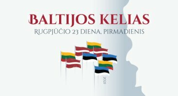 Baltijos kelias. Trijų Baltijos valstybių vėliavų instaliacija Palangoje ir Šventojoje