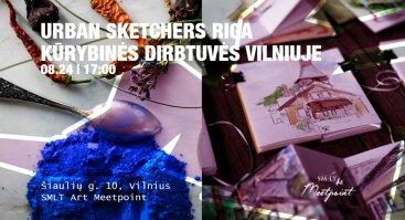 Dažų gamybos, eskizavimo kūrybinės dirbtuvės | Urban Sketchers Riga