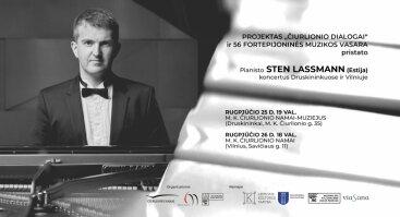 "Koncertas ""Čiurlionio dialogai"" | Pianistas Sten Lassmann"