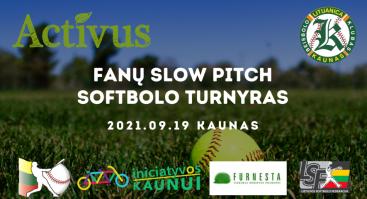 Slow Pitch Softbolo turnyras Kaune 2021