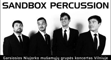 SANDBOX PERCUSSION (JAV) – garsiosios Niujorko mušamųjų grupės koncertas