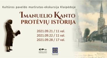 """Kultūros paveldo maršrutas-ekskursija """"Imanuelio Kanto protėvių istorija"""""""