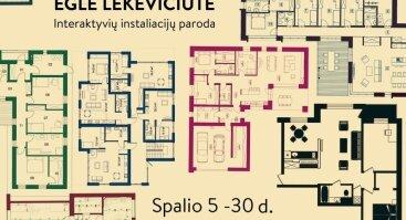Eglės Lekevičiūtės interaktyvių instaliacijų paroda TARP 4 SIENŲ