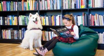 Skaitymų su šunimi įvadinis susitikimas bibliotekoje