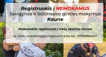 NEMOKAMI Savigynos ir būtinosios ginties mokymai Kaune