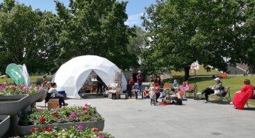 Interaktyvi vasaros skaitykla Karlskronos aikštėje